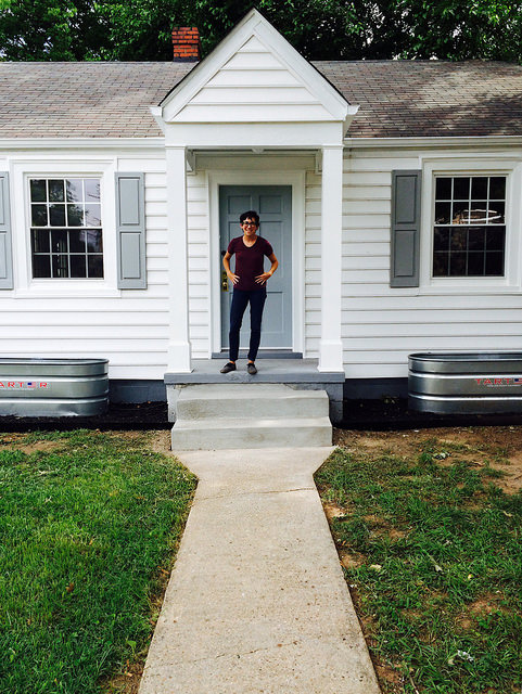Me and a house.